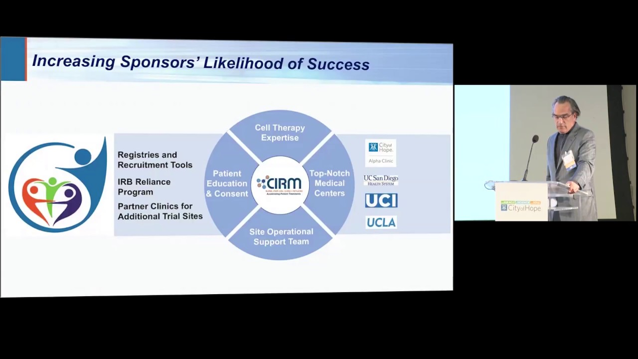 #CIRMSymposium: Turning the Alpha Clinic Vision Into a Reality for Patients - Geoffrey Lomax