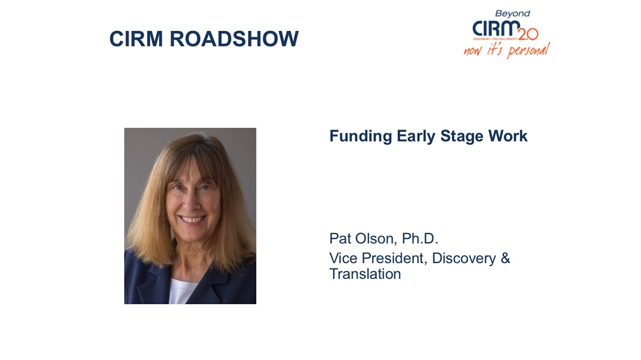 Funding Opportunities for Early Stage Stem Cell Research