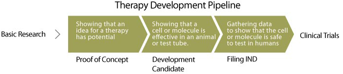 Therapy development pipeline